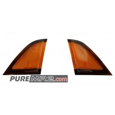 REV 3 Kouki Tail Light Corner Reflectors AMBER PAIR - Genuine Toyota - SW20 - NEW