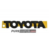 Rear Boot Lid Trunk TOYOTA Badge Emblem Black - Genuine Toyota - SW20 - NEW