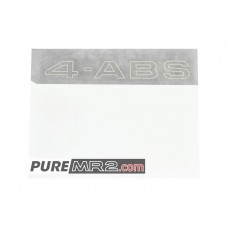 Rear Window 4-ABS Decal Sticker - Genuine Toyota - SW20 - NEW