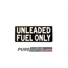 Unleaded Fuel Only Fuel Door Warning Sticker - Genuine Toyota - SW20 - NEW
